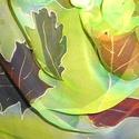 Őszi levelek, Ruha, divat, cipő, Kendő, sál, sapka, kesztyű, Sál, Elvarázsol, magával ragad, télen melegít, nyáron hűsít. Muszlin vagy más néven chiffon hernyóselyemb..., Meska
