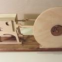 Vákuum motor fa modell , Férfiaknak, Játék, Steampunk ajándékok, Fajáték, Famegmunkálás, Porszívóval működtethető kettős működésű vákuum motor. A motor a gőzgép elvén működik, csak ebben a..., Meska