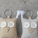 Szerelmes Uhuk - 2db bagoly kulcstartó egy csomagban, Mindenmás, Kulcstartó, Két darab Uhu kulcstartó egy csomagban, színben harmonizálnak egymással, az egyik kicsit lányosabb, ..., Meska