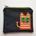 Farmer neszesszer narancscsíkos macskával, Táska, Neszesszer, Te sem találsz soha semmit a táskádban? Az apróbb tárgyakat garantáltan biztos helyen tudhatod ebben..., Meska