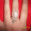 Tulipános gyűrű, Ékszer, Magyar motívumokkal, Fülbevaló,  Tulipán gyűrű gyöngy nélkül.  Találsz termékeim között hozzá való fülbevalót és nyak..., Meska