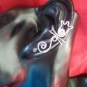 Tulipános  fülgyűrű, Ékszer, óra, Magyar motívumokkal, Fülbevaló,  Ezt a fülgyűrűt  ezüstözött ékszerdrótból készítem.   Ez a különleges ékszer egyedi, elegáns és ajá..., Meska