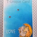 Egyedi, kézzel készített szerelmes egerek üdvözlőlap,köszöntő,love, 3D figura, Valentin nap, A6, Szerelmeseknek, Naptár, képeslap, album, Ajándékkísérő, Képeslap, levélpapír, Bár a Valentin nap elmúlt már, de szeretteinknek kedveskedni az év bármely napján lehet!!!   *..., Meska