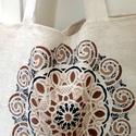 Mandala vászon táska, Táska, Divat & Szépség, Táska, Festészet, Szövés, Mandala motívum energiával feltöltött házi szöttes vászon. Kézzel készített : festett.ill.vart term..., Meska