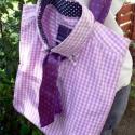 Ingből és nyakkendőből táska recycling - rendelhető, Egy ingből és egy nyakkendőből készült ez a ...