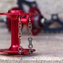 Fülbevaló újrahasznosított kerékpár láncból (dupla, ezüst), Ékszer, óra, Fülbevaló, Fülbevaló újrahasznosított ezüst színű kerékpár láncból   Anyaga: fém kerékpárlánc, n..., Meska