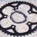 Kerékpár láncból készült karkötő, fekete, Ékszer, óra, Férfiaknak, Karkötő, Bringás kiegészítők, Ékszerkészítés, Újrahasznosított alapanyagból készült termékek, Fekete karkötő újrahasznosított fekete színű kerékpár láncból  Anyaga: fém kerékpár lánc és viaszol..., Meska
