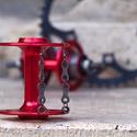 Fülbevaló újrahasznosított kerékpár láncból (dupla, fekete), Ékszer, Fülbevaló, Fülbevaló újrahasznosított fekete színű kerékpár láncból  Anyaga: fém kerékpárlánc, ni..., Meska