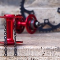 Fülbevaló újrahasznosított kerékpár láncból (tripla, fekete), Ékszer, óra, Fülbevaló, Ékszerkészítés, Újrahasznosított alapanyagból készült termékek, Fülbevaló újrahasznosított fekete színű kerékpárláncból  Anyaga: fém kerékpárlánc, nikkelmentes aka..., Meska