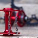 Fülbevaló újrahasznosított kerékpár láncból (dupla, sunrace), Ékszer, óra, Fülbevaló, Ékszerkészítés, Újrahasznosított alapanyagból készült termékek, Fülbevaló újrahasznosított ezüst színű kerékpárláncból  Anyaga: fém kerékpárlánc, nikkelmentes akas..., Meska