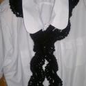 Horgolt női sál., Mindenmás, Kötés, Horgolás, Horgolt női sál.Puha,akril fonalból készítettem ezt a szép csipkemintás sálat. Hossza: átlagosan 17..., Meska