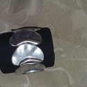 fém karkötő, gumis, Ékszer, Karkötő, Ékszerkészítés, fém karkötő, ezüst színű, gumis egyedi darab, saját készítés 18 cm, Meska