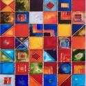 Mozaik, Képzőművészet, Napi festmény, kép, Festészet, 30X55 cm,  síküvegre üvegfestés technikával készült üvegfestmény, Meska