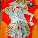 Firka, a kecskelány, Képzőművészet, Napi festmény, kép, Festészet, 40X60 cm, síküvegre üvegfestés technikával készült üvegfestmény , Meska