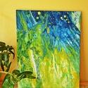 Tavaszi rét - akril festmény, Képzőművészet, Festmény, Akril, 40x50 cm-es feszített vászonra készült akril festmény. Ebben az állapotban is felteheted a falra, de..., Meska