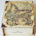 Könyvdoboz a rejtett kincseidnek, A doboz mérete 24,5 x 19 x 8 cm, első ránézés...