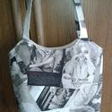 Monroe, pillangó, kutyás-cicás táska szatyor, Táska, Szatyor, Válltáska, oldaltáska, Varrás, 3 db egyforma táskát készítettem, rendeléskor kérem odaírni, melyiket kéred!  Marilyn Monroe táska ..., Meska