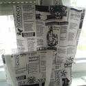 Daily News szett szatyor táska neszesszer, Táska, Szatyor, Válltáska, oldaltáska, Neszesszer, Varrás, Daily News szettet készítettem.  Szatyor fehér béléssel, mérete 38x38, füle 37 cm.  Neszesszer fehé..., Meska