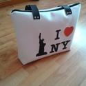 Szabadság szobor New York műbőr textilbőr love táska, Táska, Válltáska, oldaltáska, Varrás, Ha New York szerelmese vagy, ezt a táskát Neked készítettem! A  méretei: 36x27x6, pántja 68 cm hoss..., Meska