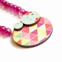 Pink statement nyaklánc - design ékszer - nyaklánc - Woody kollekció - KIFUTÜ, Eredeti ára: 5500 ft  És imhol: új kollekcióm,...