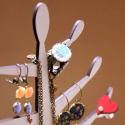 Ékszerfa - ékszertaró nyakláncoknak, fülbevalóknak, Vidám ékszertartó nyakláncoknak, fülbevalókn...
