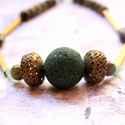 Zöld csövek - csöves lánc - zöld, bronz, A nyaklánc a következő anyagokból készült:  ...