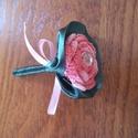 Vőlegény kitűző, Esküvő, Férfiaknak, Esküvői csokor, Vőlegényes, Rendelésre készül a képen látható horgolt rózsás vőlegény kitűző. Kérhető kristállyal..., Meska