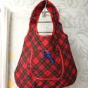Kifordítható táska, Táska, Szatyor, Válltáska, oldaltáska, Eladó egy vízhatlan anyagból készített kifordítható nagy pakolós táska. Egyik oldala kék csíkos a má..., Meska