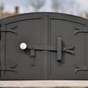 Kemence ajtó, Otthon, lakberendezés, Kovácsoltvas, Kemence ajtó kültéri kemencéhez.   Könnyen beépíthető nem kell hozzá ramonádot készíteni.   Az ajtó..., Meska