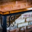 Asztal, Bútor, Asztal, Famegmunkálás, Fémmegmunkálás, Étkező asztal 100 cm x 170 cm es fenyő asztallappal . méretek növelhetők ár függvényében. Max 250 x..., Meska