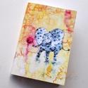 Labdázó pöttyös elefántok füzet, Naptár, képeslap, album, Jegyzetfüzet, napló, A füzet borítója egy festményem másolata. Az eredeti akvarellfestmény saját szellemi terméke..., Meska