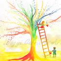 Érik a szivárványfa művészi nyomat - falikép, Dekoráció, Otthon, lakberendezés, Kép, Falikép, A képen egy szivárványfát festettem meg, mely számomra egy pozitív szimbólum. A szivárványfát egy pá..., Meska
