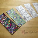 Színezős könyvjelző szett - Pozitív üzenet - felnőtt színező, Naptár, képeslap, album, Könyvjelző, Anyák napja, Ballagás, Kézzel rajzolt, majd digitalizált felnőtt színezős könyvjelző szett (5 db-os). 7x18 cm méretűek, vas..., Meska