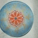 selyem mandala, Dekoráció, Otthon, lakberendezés, Mindenmás, Falikép, 20 cm-es átmérőjű selyem mandala gyöngyökkel díszítve. Erősíti a szakrális és torokcsakr..., Meska
