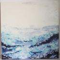 Tenger - akril festmény, Otthon & lakás, Képzőművészet, Festmény, Akril, Festészet, Absztrakt akril festmény, mérete: 60x60 cm, alapja feszített vászon., Meska