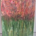 Mező - akril festmény, Otthon & lakás, Képzőművészet, Festmény, Akril, Festészet, Absztrakt akril festmény, mérete: 50x40 cm, alapja feszített vászon., Meska