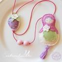Lila Eper - bbábuska nyaklánc kislányoknak, Kisebb méretű bábuska nyaklánc egy pici, lila ...