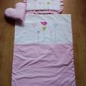 Rózsaszín álom, Baba-mama-gyerek, Gyerekszoba, Falvédő, takaró, Varrás, Takaró, párna és díszpárna!  Különleges kislányos design, egyedi minta. A csomag tartalma egy takar..., Meska