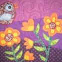 Varázslatos kert - textil falikép (vancsavarr) - Meska.hu