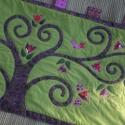 Indás-madaras falvédő 170 x 70 cm, Ez az indás-madaras falvédő, az életfás ágyt...