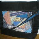"""Crazy patchwork női táskán, Táska, Válltáska, oldaltáska, Elegáns, alkalmi, de nem kicsi női táska.  A táska elejét textíliákkal, gyöngyökkel és csipkékkel """"m..., Meska"""