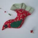 MeseMadár - piros-zöld, Dekoráció, A legszebb pamutvásznaimból készítettem több madárkát, melyek akár Hozzád is röpülhetnek, ha úgy sze..., Meska