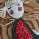 Angyalka - karácsonyi színekben, Ez a kedves angyalka beröppenhet Hozzátok? A kis...