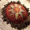 Alkony - kitűző, Ékszer, Bross, kitűző, Textilékszer a táskádra, kabátodra... ... ha szereted a csillagokat!  Igényes kivitelezésű textil ki..., Meska