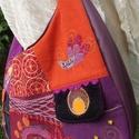 Crazy patchwork női táska , Táska, Válltáska, oldaltáska, Vidám, különc, praktikus. Sok-sok zsebbel (elején kettő,hátulján még egy zippes plusz egy gombos, be..., Meska