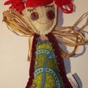 Tündér - piros, bordó, Dekoráció, Dísz, Ez a kedves tavasztündér beröppenhet Hozzátok? A kis figura estéhez gyapjúfilcet használtam, melyet ..., Meska
