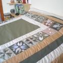 Ágytakaró franciaágyra, Otthon, lakberendezés, Dekoráció, Lakástextil, Kép, Ezt az ágytakarót külön kérésre készítettem, már elkelt, de hasonló rendelhető. Az ágytakaró francia..., Meska