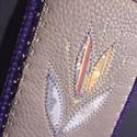 Tulipános mobil- vagy zsebkendőtartó, Táska, Pénztárca, tok, tárca, Mobiltok, A tok gyapjú biofilcből és textilbőrből készült, elején textilrátéttel. Belső mérete 7x11 cm.  Elegá..., Meska