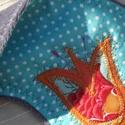 Tulipános-pöttyös alvómaszk (szemmaszk), Szépségápolás, Egészségmegőrzés, Puha belső réteggel, kényelmesen simul az arcra ez a szemmaszk. Külső részét pamutvászonból, textilr..., Meska