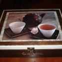 Teafilter tartó doboz férfiaknak, Otthon, lakberendezés, Konyhafelszerelés, Tárolóeszköz, Doboz, Decoupage, transzfer és szalvétatechnika, 12 rekeszes, nagyméretű  teafiltertartó doboz angol stílusúra készítve. Nagyon elegáns, nagyon stíl..., Meska